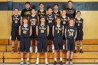 St. Pius X Sartans Boys JV Basketball Winter 17-18 team photo.