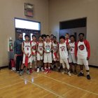 McLane Highlanders Boys JV Basketball Winter 17-18 team photo.