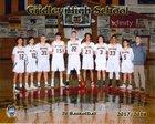 Gridley Bulldogs Boys JV Basketball Winter 17-18 team photo.