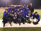 Dos Palos Broncos Boys JV Soccer Winter 17-18 team photo.