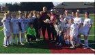 Buford Yellowjackets Girls JV Soccer Spring 17-18 team photo.