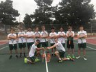 Los Alamos Hilltoppers Boys Varsity Tennis Spring 16-17 team photo.