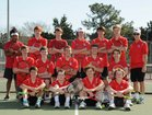 South Mecklenburg Sabres Boys Varsity Tennis Spring 16-17 team photo.