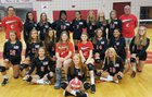 Currituck County Knights Girls JV Volleyball Fall 18-19 team photo.