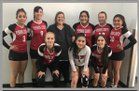 Pershing County Mustangs Girls JV Volleyball Fall 18-19 team photo.
