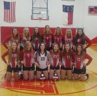 East Wilkes Cardinals Girls JV Volleyball Fall 18-19 team photo.