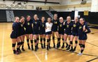 Kern Valley Broncs Girls JV Volleyball Fall 18-19 team photo.
