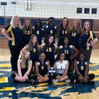 East Mecklenburg Eagles Girls JV Volleyball Fall 18-19 team photo.