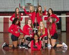 Fort White Indians Girls JV Volleyball Fall 18-19 team photo.