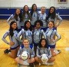 Peninsula Catholic  Girls JV Volleyball Fall 18-19 team photo.