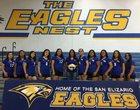 San Elizario Eagles Girls JV Volleyball Fall 18-19 team photo.