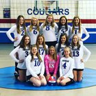 Crenshaw Christian Academy Cougars Girls JV Volleyball Fall 18-19 team photo.