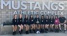 Costa Mesa Mustangs Girls JV Volleyball Fall 18-19 team photo.