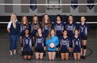 Hill Country Christian School of Austin Knights Girls JV Volleyball Fall 18-19 team photo.