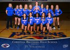 Christian Brothers Falcons Girls JV Volleyball Fall 18-19 team photo.
