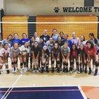 Wharton Wildcats Girls JV Volleyball Fall 18-19 team photo.