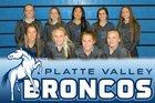 Platte Valley Broncos Girls JV Volleyball Fall 18-19 team photo.