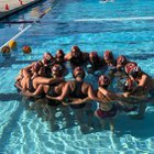 Tulare Union The Tribe Girls Varsity Water Polo Fall 18-19 team photo.