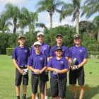 Space Coast Vipers Boys Varsity Golf Fall 18-19 team photo.