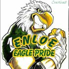 Enloe Eagles Boys Varsity Football Fall 18-19 team photo.