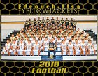 Edcouch-Elsa Yellowjackets Boys Varsity Football Fall 18-19 team photo.