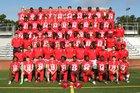 Flora Falcons Boys Varsity Football Fall 18-19 team photo.