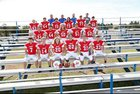 Midland Mustangs Boys Varsity Football Fall 18-19 team photo.