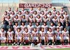 Bell Gardens Lancers Boys Varsity Football Fall 18-19 team photo.