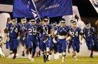 Asheboro Blue Comets Boys Varsity Football Fall 18-19 team photo.