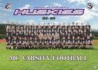 Mifflin County Huskies Boys Varsity Football Fall 18-19 team photo.
