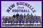 New Rochelle Huguenots Boys Varsity Football Fall 18-19 team photo.