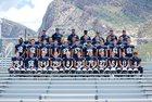Pusch Ridge Christian Academy Lions Boys Varsity Football Fall 18-19 team photo.