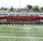 Chaminade-Madonna Lions Boys Varsity Football Fall 18-19 team photo.