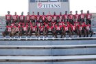 Jacksonville Titans Boys Varsity Football Fall 18-19 team photo.