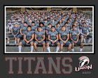 Union Titans Boys Varsity Football Fall 18-19 team photo.