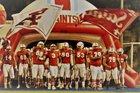 Santa Ana Saints Boys Varsity Football Fall 18-19 team photo.
