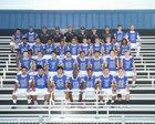 Mountain House Mustangs Boys Varsity Football Fall 18-19 team photo.
