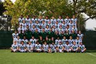 Sacred Heart Cathedral Preparatory Fightin' Irish Boys Varsity Football Fall 18-19 team photo.