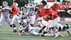 Mentor Cardinals Boys Varsity Football Fall 18-19 team photo.