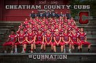 Cheatham County Central Cubs Boys Varsity Football Fall 18-19 team photo.