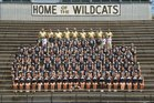 Scottsboro Wildcats Boys Varsity Football Fall 18-19 team photo.