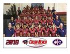 Cocoa Beach Minutemen Boys Varsity Football Fall 18-19 team photo.