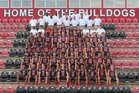 Crestview Bulldogs Boys Varsity Football Fall 18-19 team photo.
