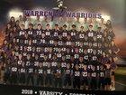 Warren Warriors Boys Varsity Football Fall 18-19 team photo.