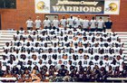 Jefferson County Warriors Boys Varsity Football Fall 18-19 team photo.