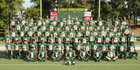 Longview Lobos Boys Varsity Football Fall 18-19 team photo.