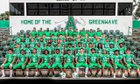 Ashbrook Greenwave Boys Varsity Football Fall 18-19 team photo.