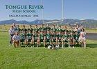 Tongue River Eagles Boys Varsity Football Fall 18-19 team photo.
