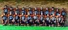 Morrice Orioles Boys Varsity Football Fall 18-19 team photo.