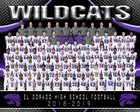 El Dorado Wildcats Boys Varsity Football Fall 18-19 team photo.